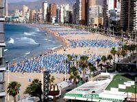 Spain,Benidorm, Rincon de loix, Levante beach 30m no hills, no noise