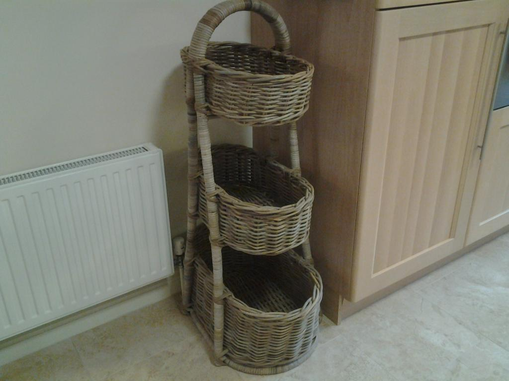 KITCHEN VEG BASKETS large three tier basket collection only £60