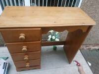 Pine dressing table shabby chic