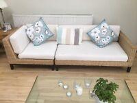 Habitat wicker sofas