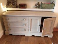 Side Cabinet & Corner Unit - Shabby Chic Style.