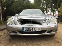 2004 54 MERCEDES E270 CDI ESTATE SILVER (TOW PACK) MOT MARCH 2017! PARROT HANDS FREE - LEATHER!