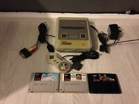 Super Nintendo snes console and games