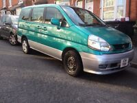 1999 nissan serena 2.0 petrol auto 8 seater MPV PEOPLE CARRIER (not 7 seater not verso )