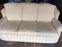 Beautiful cream sofa (3 seater and 1 armchair)