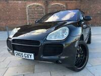 "STUNNING 2005 05 PORSCHE CAYENNE 4.5 TURBO / 450 BHP / 22"" BLACK SPARKLE ALLOYS"