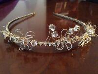 Vintage wedding tiara bride bridal floral diamonte