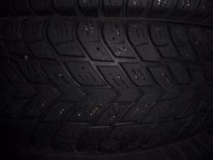 4 pneus d'hiver, 175/70/13 Hankook IPike RC01, 35% d'usure, 7-8/32 de mesure
