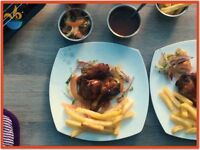 Nabz Biryaniz Homemade Halal BBQ Chicken Wings. **Collection** - Party Catering