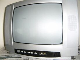 Small Television with Remote Control