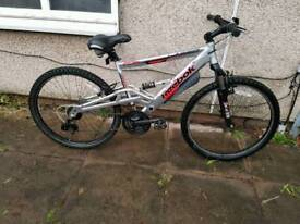 Rebok mountain bike with full suspension