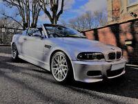 BMW M3 E46 MANUAL CONVERTIBLE SILVER 2003 - 88K MILES FSH