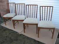 McINTOSH CHAIRS TEAK DINING CHAIRS MCINTOSH FURNITURE DINING ROOM CHAIRS