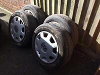 VW polo wheels with tyres