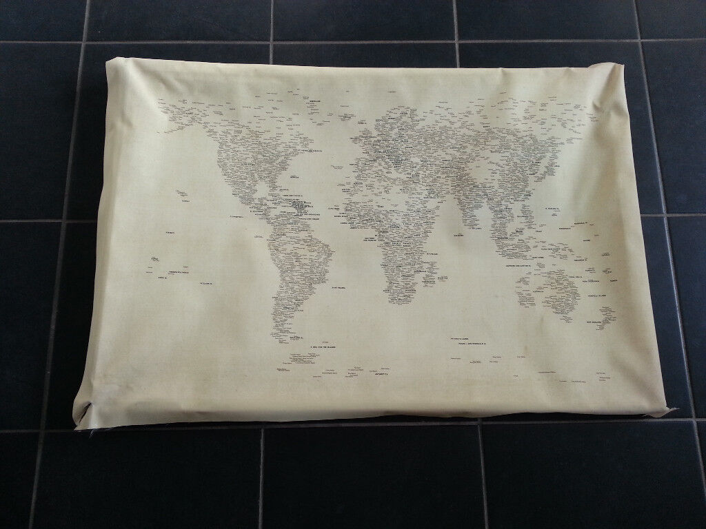 Special world map canvas written in capital cities in tower special world map canvas written in capital cities gumiabroncs Gallery