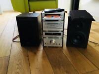 Retro Technics mini stereo system