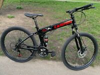 New folding mountain bike - used for test ride only
