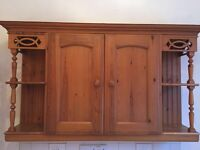 Solid oak kitchen. 10 cupboard doors, 6 drawers and corner units. (Hinges included)