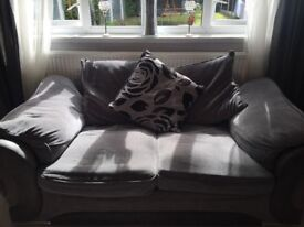 3&2 seater sofa grey pick up moston