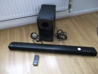 lg sound bar 100 watts with sub woofer