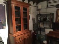 Lovely Victorian pine display unit .....