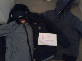 Aged 6-7 years old pyjamas and 2 in 1 coat