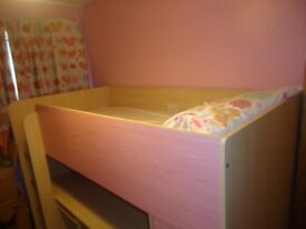Pink cabin bed. Excellent condition