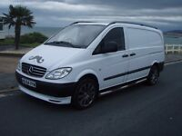 MERCEDES VITO 111CDI 12 MONTHS MOT LWB 18IN ALLOY WHEELS