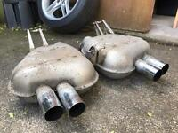 BMW Z4M genuine exhaust back boxes / silencers