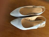 Blue suede sandals - matalan