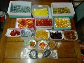 Massive joblot of glass pendants and necklace making stuff