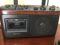 Vintage sony cassette radio