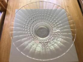Laura Ashley decorative large glass bowl