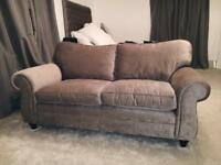 Laura Ashley Matilda truffle / grey two seater sofa