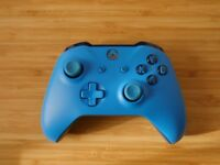 Official Xbox One Wireless Controller with 3.5mm Headset Jack - Blue