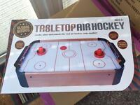 Tabletop air hockey new in box