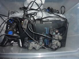 2 x PS2 Consoles & 5 Controllers & Many Games