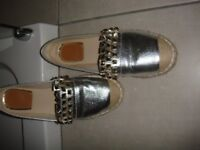 Gold Leather Loafers - size UK5 - worn once designer inspired