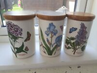 Portmeirion kitchen cannisters
