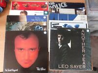 1980s 20 Records Vinyl Collection Tina Turner Police Billy Joel Phil Collins