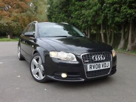2008 Audi A4 Avant 2.0 TDI S Line Estate Sat Nav, 2 Years Warranty not mercedes bmw volvo volkswagen