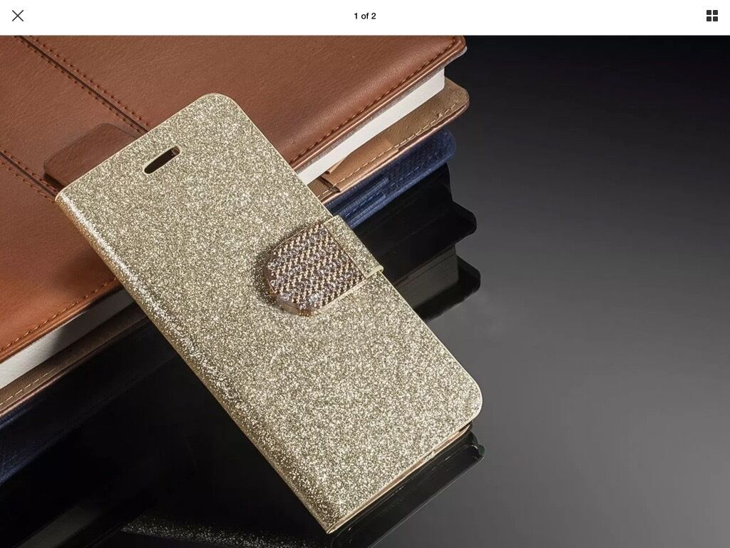 iPhone 6/6s gold bling cover