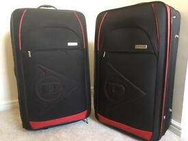 Two Dunlop Large Expandable Suitcases Travel Holiday