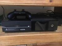 Xbox one 500GB with games and kinect