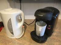 KITCHEN BUNDLE-BOSCH coffee maker, SABICHI cordless kettle and kitchen roll/foil, etc, holder.