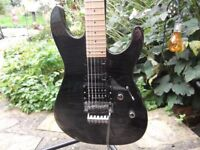 ESP M-103FM Guitar, Black Grey Flametop