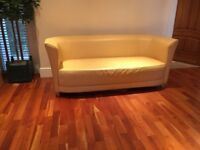 Leather Yellow Couch/Sofa
