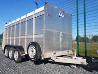 IFOR WILLIAMS TRAILER LIVESTOCK CATTLE FARM TRANSPORT SMALL HOLDING MARKET TA510 RAMP PARTITION COW