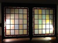Antique,Coloured Glass, Leaded, Sash Windows