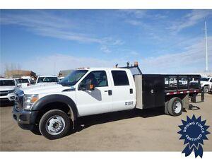 2014 Ford Super Duty F-550 Crew Cab 4x4 Flat Deck Truck, 6.8L
